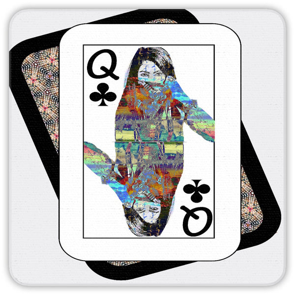 Play Your Hand...Queen Club No. 4 Coaster Set