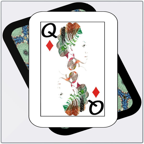 Play Your Hand...Queen Diamond No. 1 Metal Print