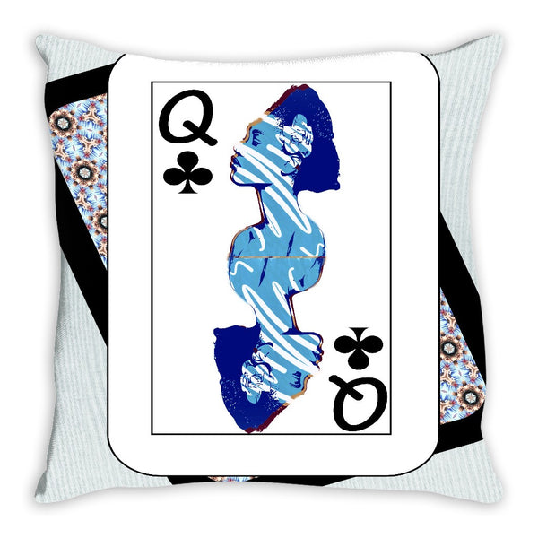 Play Your Hand...Queen Club No. 2 Throw Pillow