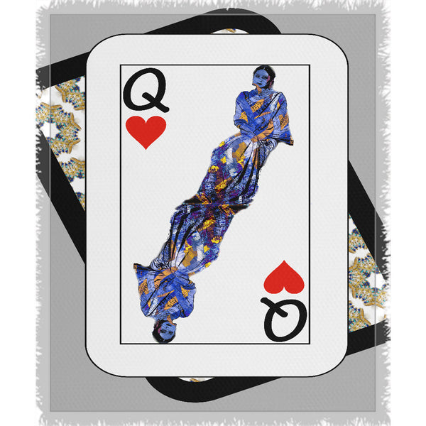 Play Your Hand...Queen Heart No. 3 Woven Blanket