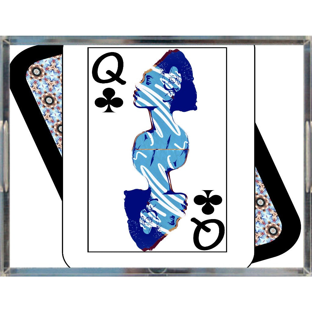 Play Your Hand...Queen Club No. 2 Acrylic Tray
