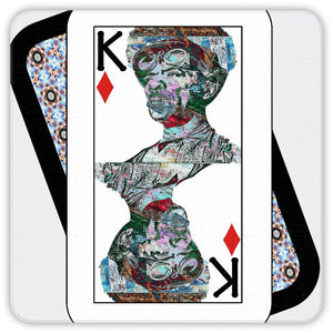 Play Your Hand...King Diamond No. 2 Coaster Set