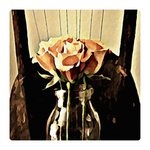Load image into Gallery viewer, A Rose is still a Rose Ottoman