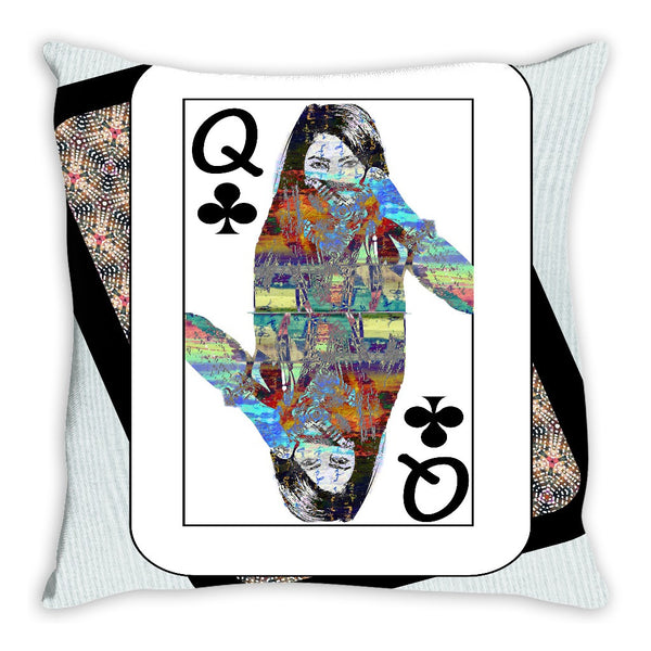 Play Your Hand...Queen Club No. 4 Throw Pillow
