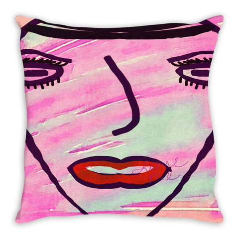 She Said Live In Color Throw Pillow
