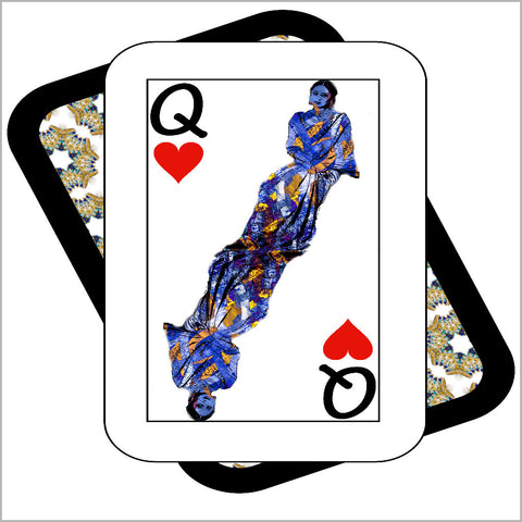 Play Your Hand...Queen Heart No. 3 Canvas Poster