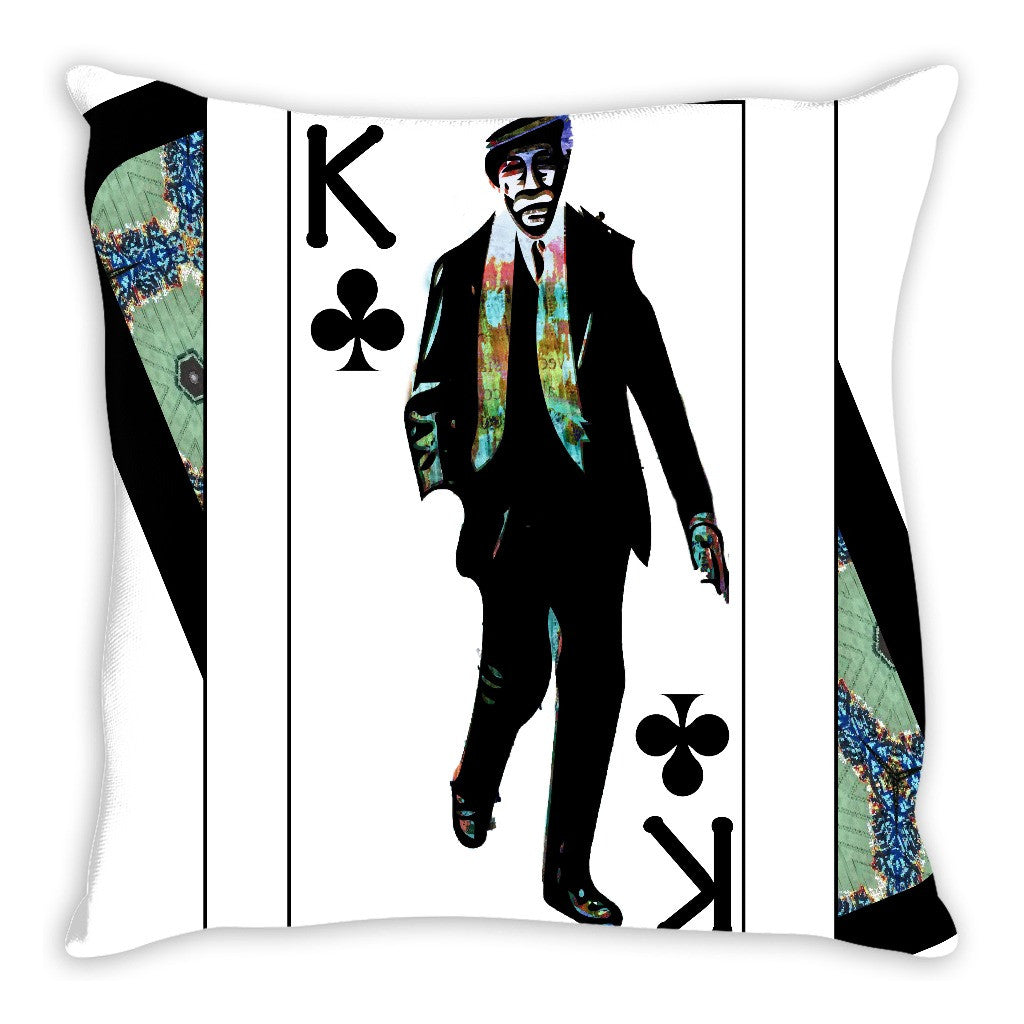 Play Your Hand...King Club No. 1 Throw Pillow