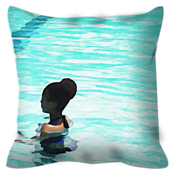 Deep End No. 2 Throw Pillow