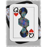 Load image into Gallery viewer, Play Your Hand...Queen Heart No. 2 Woven Blanket