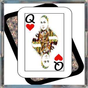 Play Your Hand...Queen Heart No. 4 Acrylic Tray