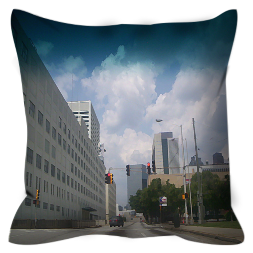 Lonely Avenue Throw Pillow