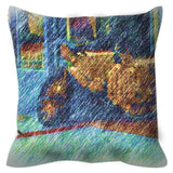 Street Scene West End Throw Pillow