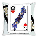 Load image into Gallery viewer, Play Your Hand...Queen Heart No. 3 Throw Pillow