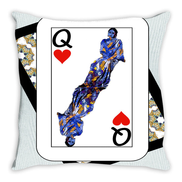 Play Your Hand...Queen Heart No. 3 Throw Pillow