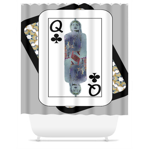 Play Your Hand...Queen Club No. 3 Shower Curtain