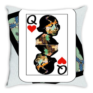 Play Your Hand...Queen Heart No. 1 Throw Pillow
