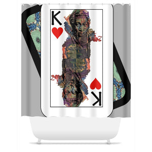 Play Your Hand...King Heart No.1 Shower Curtain