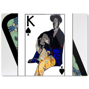Play Your Hand...King Spade No. 1 Glass Cutting Board