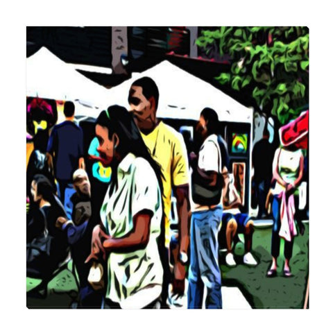 Street Scene No. 2 Wrapped Canvas