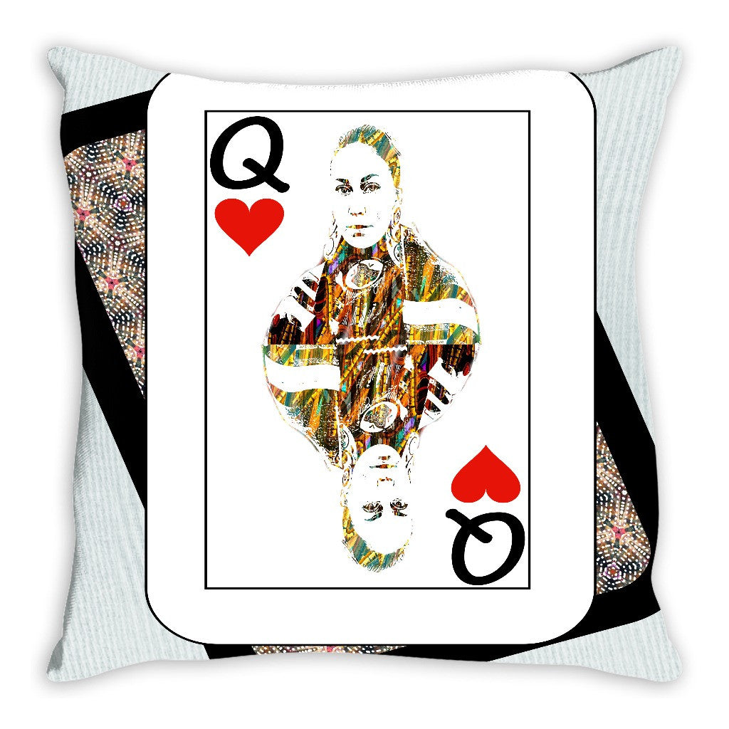 Play Your Hand...Queen Heart No. 4 Throw Pillow