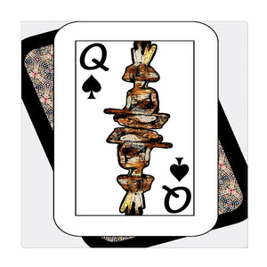 Play Your Hand...Queen Spade No. 4 Wrapped Canvas