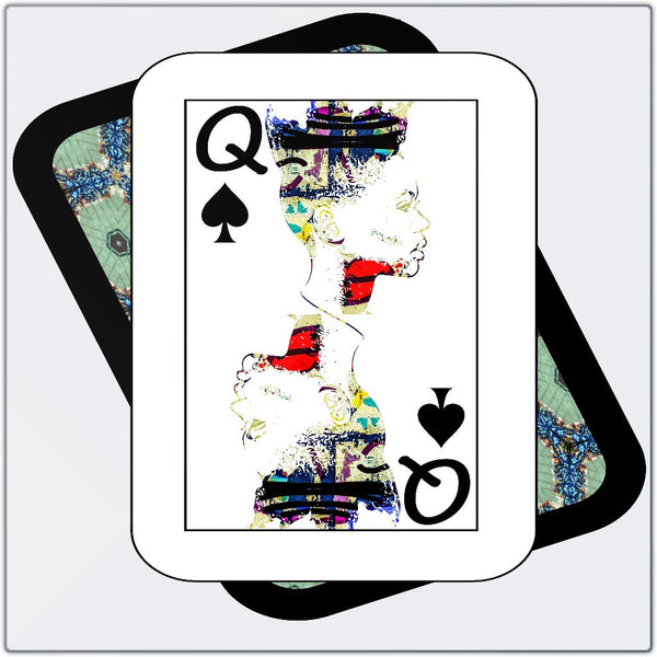 Play Your Hand...Queen Spade No. 1 Metal Print