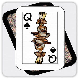 Play Your Hand...Queen Spade No. 4  Coaster Set