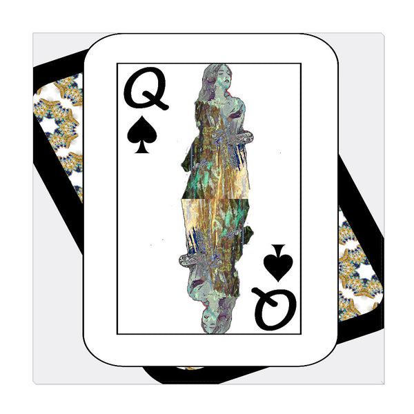 Play Your Hand...Queen Spade No. 3 Wrapped Canvas