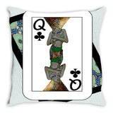 Play Your Hand...Queen Club No. 1 Throw Pillow