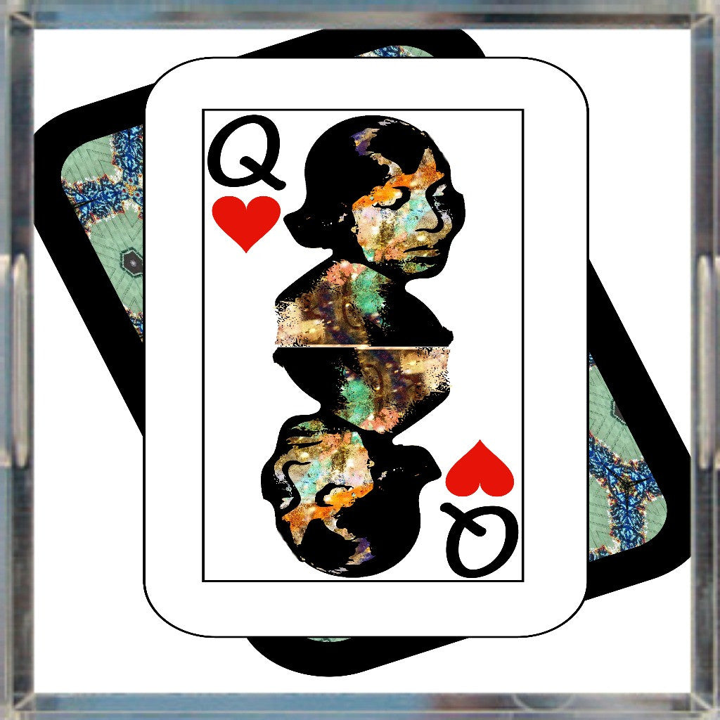 Play Your Hand...Queen Heart No. 1 Acrylic Tray