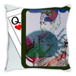 Load image into Gallery viewer, Play Your Hand...Watch Your Back No. 3 Throw Pillow