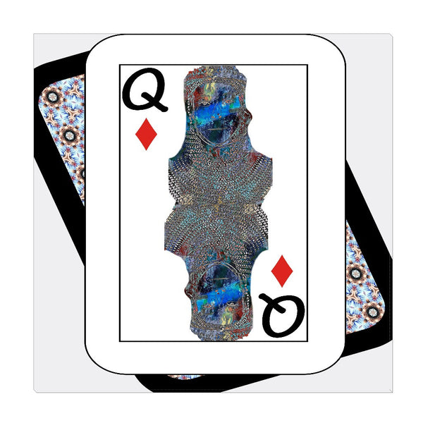 Play Your Hand...Queen Diamond No. 2 Wrapped Canvas