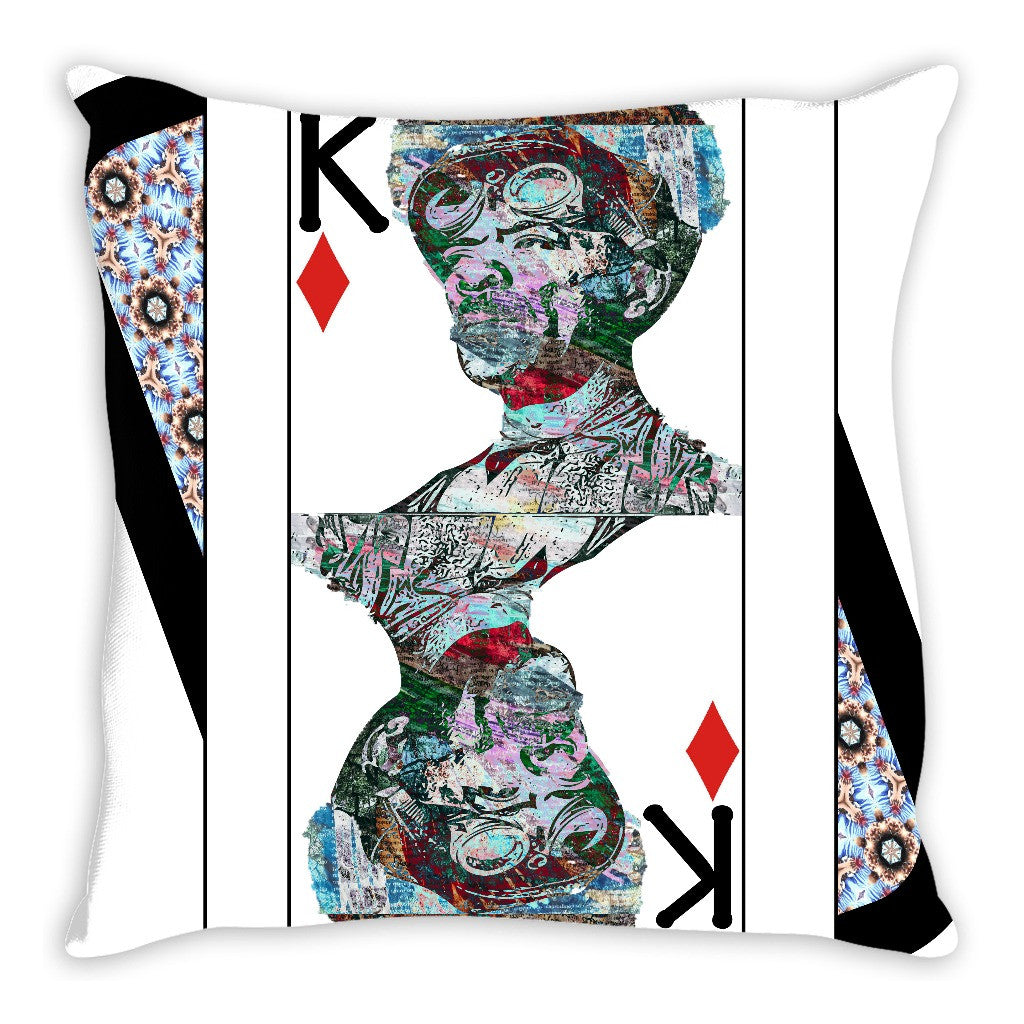 Play Your Hand...King Diamond No. 2 Throw Pillow