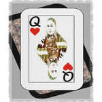 Load image into Gallery viewer, Play Your Hand...Queen Heart No. 4 Woven Blanket