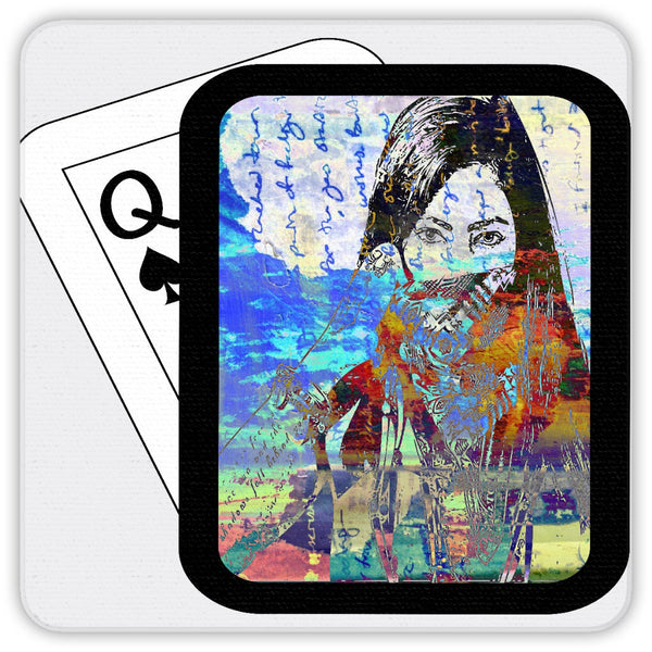 Play Your Hand...Watch Your Back No. 4  Coaster Set