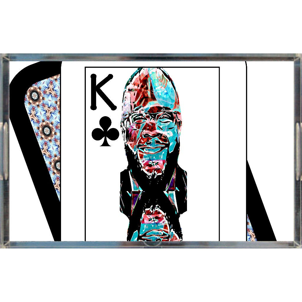 Play Your Hand...King Club No. 2 Acrylic Tray