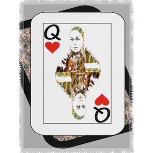 Play Your Hand...Queen Heart No. 4 Woven Blanket