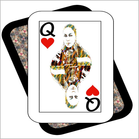 Play Your Hand...Queen Heart No. 4 Canvas Poster