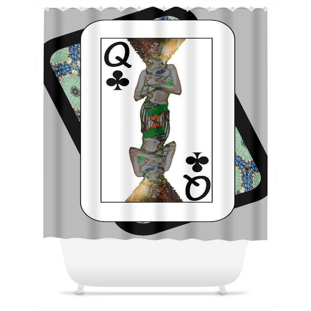 Play Your Hand...Queen Club No. 1 Shower Curtain