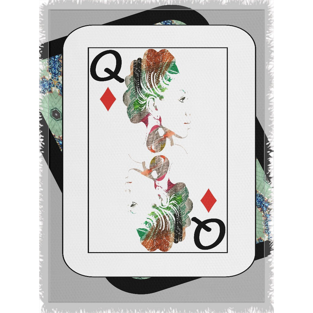 Play Your Hand...Queen Diamond No. 1 Woven Blanket