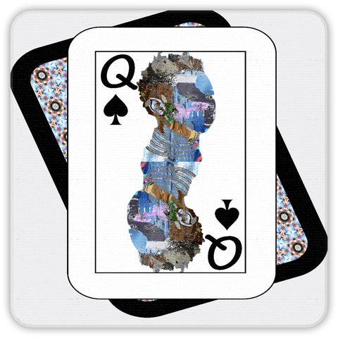 Play Your Hand...Queen Spade No. 2 Coaster Set