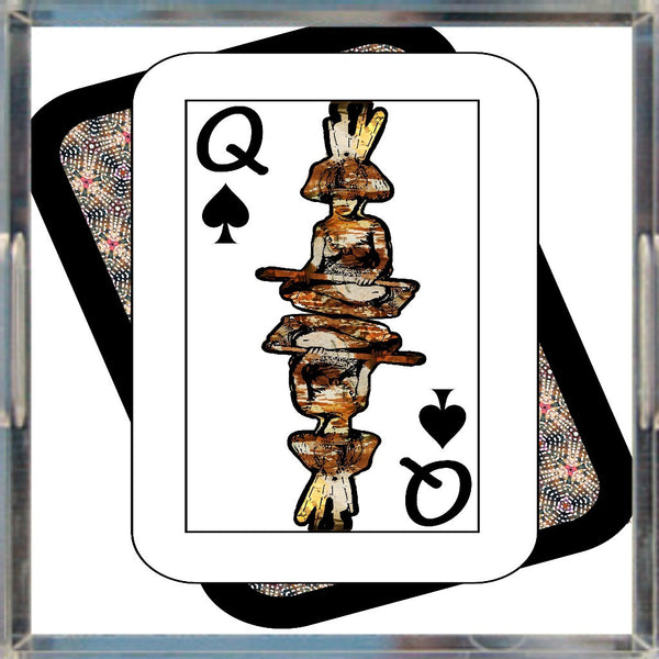 Play Your Hand...Queen Spade No. 4 Acrylic Tray