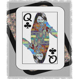 Play Your Hand...Queen Club No. 4 Woven Blanket