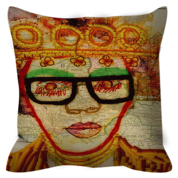 Been Around The World Throw Pillow