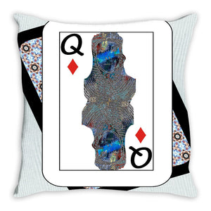 Play Your Hand...Queen Diamond No. 2 Throw Pillow