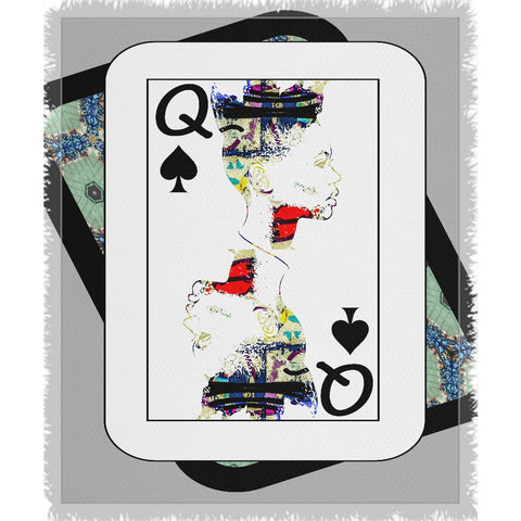 Play Your Hand...Queen Spade No. 1 Woven Blanket