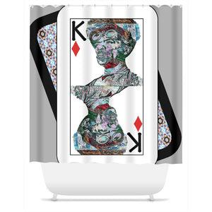 Play Your Hand...King Diamond No. 2 Shower Curtain