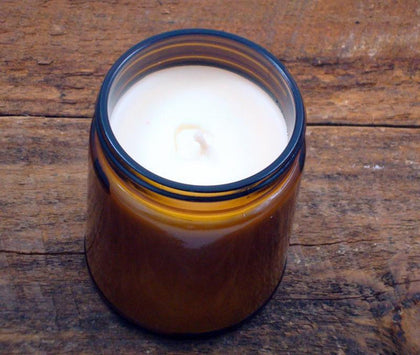 Scratch 9 Oz. Amber Glass Soy Candle