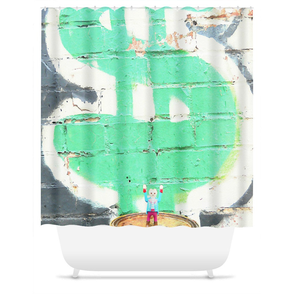 Headless Revolutionary No. 5 Shower Curtain