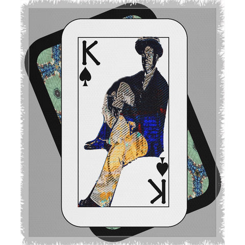 Play Your Hand...King Spade No. 1 Woven Blanket